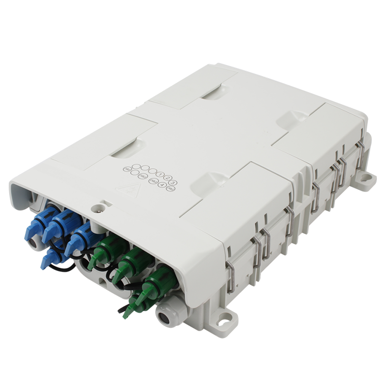 8 port Indoor / Outdoor Wall / Pole Mounted FTTH Optical Fiber Splitter Distribution Box with Waterproof Fast Connection