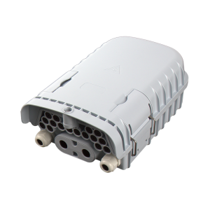 16 ports Outdoor fiber optic termination box wall mountable