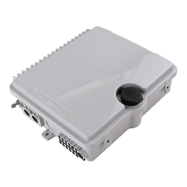 12 port Indoor / Outdoor Wall Mounted Fiber Access Termination FTTH Optical Fiber Distribution Box Enclosure