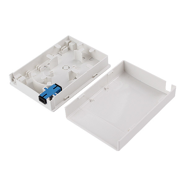 Fiber Socket Panel SC LC Wall Mount Outlet Faceplate Socket Panel for Indoor Use