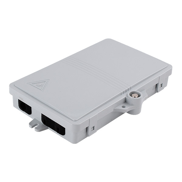 2 port Outdoor Wall Mounted Optical Fiber Distribution Box FTTH Termination Box