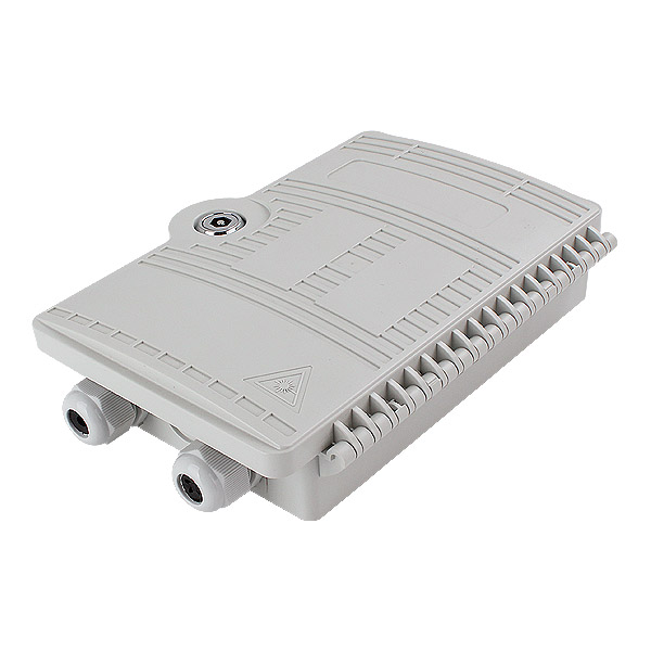 2 port Outdoor / Indoor SC Wall Mounted FTTH Optical Fiber Distribution Box Termination Enclosure
