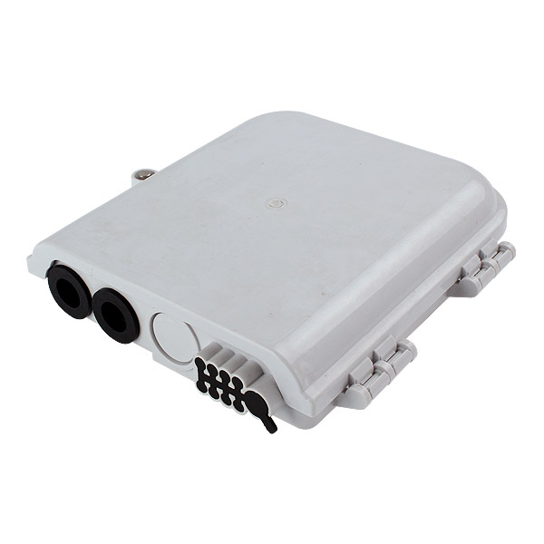 8 port Optical Fiber Distribution Box Indoor / Outdoor Wall Mounted Termination FTTH Optical Enclosure
