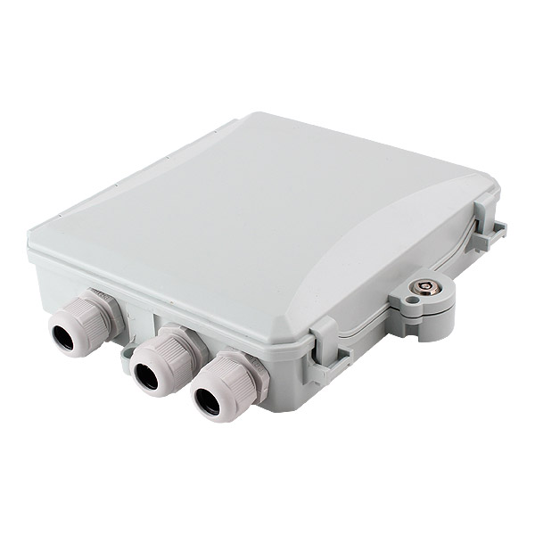 12 port Indoor / Outdoor Wall Mounted Access Termination FTTH Optical Fiber Distribution Box Enclosure