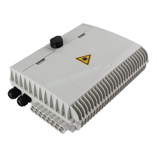 16 port Indoor / Outdoor Wall Mounted Access Termination FTTH Optical Fiber Distribution Box Enclosure