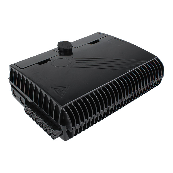 16 port Indoor / Outdoor Wall Mounted Fibre Access Termination FTTH Optical Fiber Splitter Distribution Box Enclosure – Black Color