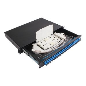 "Fully Loaded Fibre ODF ( Optical Distribution Frame ) 1RU 19"" for Rack Mounted Use"