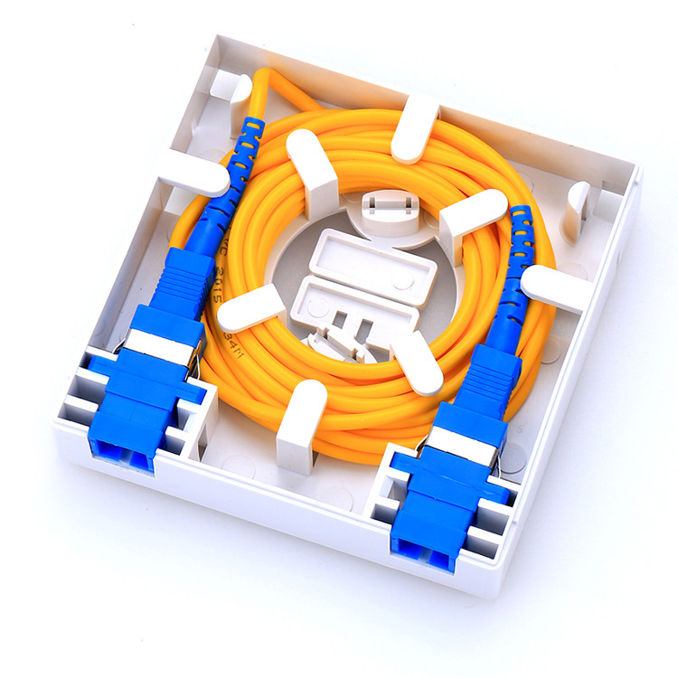 FTTH Fiber Faceplate Wall Mount SC LC Port with patch cord - Free Sample