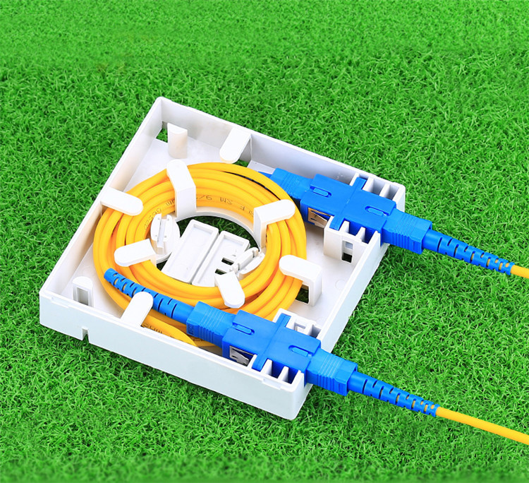 FTTH Fiber Faceplate Wall Mount SC LC Port connected- Free Sample