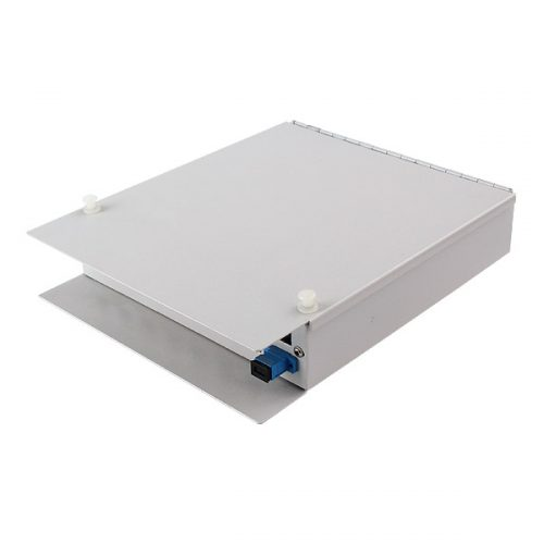 16 Ports LC SC Wall Mount Fiber Optic Termination Box Cable Distribution Enclosure Outdoor