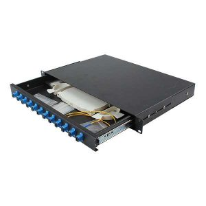 12 port fiber optic rackmounted distribution box